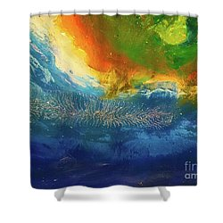 View From Space Shower Curtain
