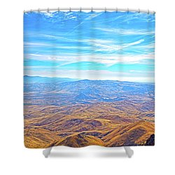 Shower Curtain featuring the photograph View From Squaw Butte, Id by Dart and Suze Humeston