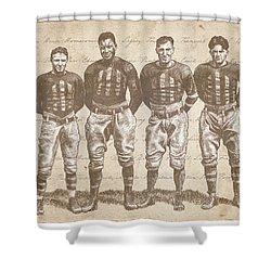 Vintage Football Heroes Shower Curtain
