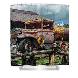 Vintage Ford Tanker Shower Curtain