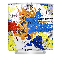 Shower Curtain featuring the painting Vulnerability  by Rene Capone