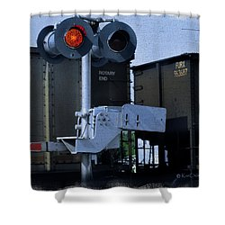 Waiting At The Rr Crossing Shower Curtain