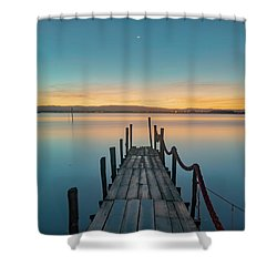 Shower Curtain featuring the photograph Walk Off by Bruno Rosa