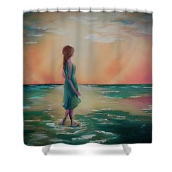 Walk Through Water Shower Curtain