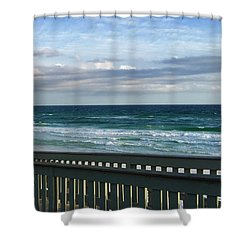 Walk With Me To The Beach Shower Curtain