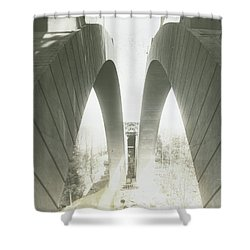 Walnut Lane Bridge Under Construction Shower Curtain