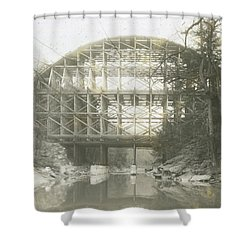 Walnut Lane Bridge Shower Curtain