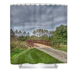 Walnut Woods Bridge - 2 Shower Curtain