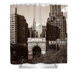 Washington Arch And New York University - Vintage Photo Art Shower Curtain