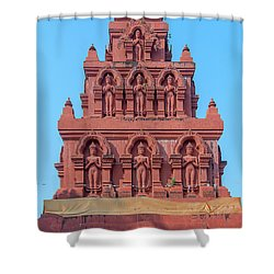 Shower Curtain featuring the photograph Wat Pa Chedi Liam Phra Chedi Liam Buddha Images Dthcm2673 by Gerry Gantt