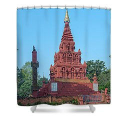 Shower Curtain featuring the photograph Wat Pa Chedi Liam Phra Chedi Liam Dthcm2670 by Gerry Gantt