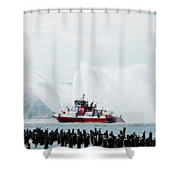 Water Boat Shower Curtain