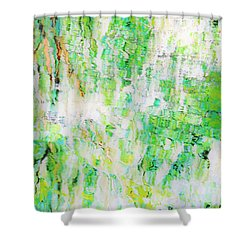 Water Colored  Shower Curtain