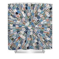 Water Mosaic Shower Curtain