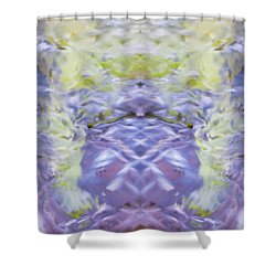 Water Ripples The Grass Shower Curtain