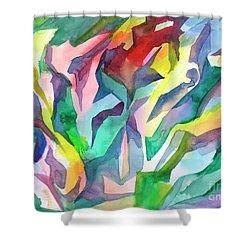 Watercolor Mosaic Shower Curtain