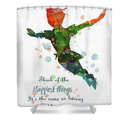 Watercolor Peter Pan Shower Curtain
