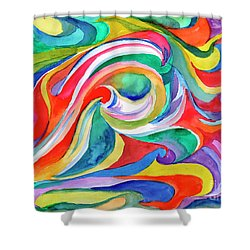Watercolor's Swirl Shower Curtain