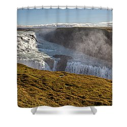 Waterfall Mist Of Iceland Shower Curtain