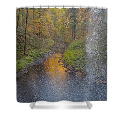 Waterfall Waterdrops Shower Curtain
