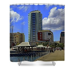 Shower Curtain featuring the photograph Waterfront by Tony Murtagh