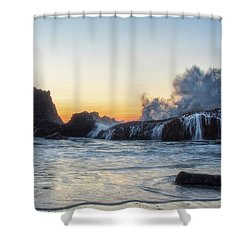 Wave Burst Shower Curtain