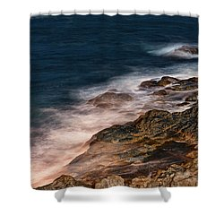Waves And Rocks At Sozopol Town Shower Curtain