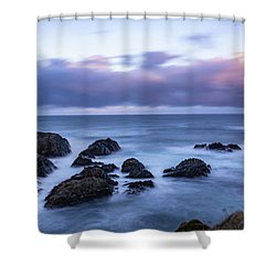 Waves At The Shore In Vesteralen Recreation Area Shower Curtain