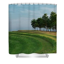 Waves Of Grass Shower Curtain