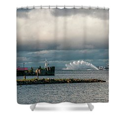 Wawatam Lighthouse Shower Curtain