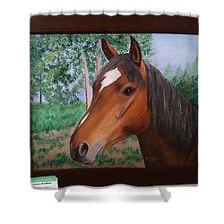 Wayne's Horse Shower Curtain