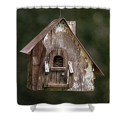 Shower Curtain featuring the photograph Weathered Bird House by Dale Kincaid