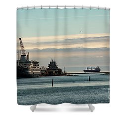 Welland Canal Ships Shower Curtain