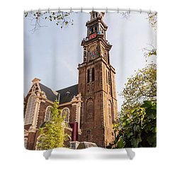 Westerkerk In Amsterdam Shower Curtain