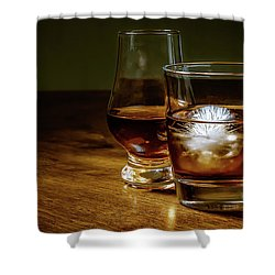 Whisky For Two Shower Curtain
