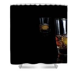 Whisky On Ice For Two Shower Curtain