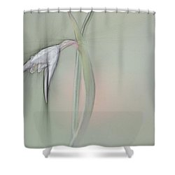 White Flower Shower Curtain