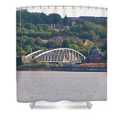 Wigg Island Swingbridge Shower Curtain