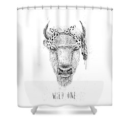 Wild One  Shower Curtain