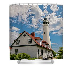 Wind Point Lighthouse No. 2 Shower Curtain