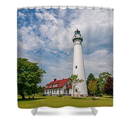 Wind Point Lighthouse No 3 Shower Curtain