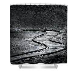 Winding Road Ahead Shower Curtain