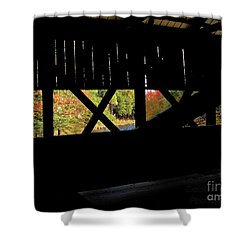 Shower Curtain featuring the photograph Window To Fall by Debbie Stahre