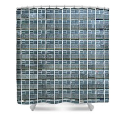 Windows Pattern Modern Architecture Shower Curtain