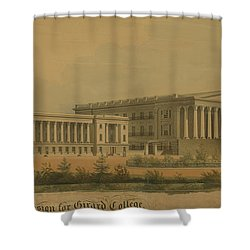 Winning Competition Entry For Girard College Shower Curtain