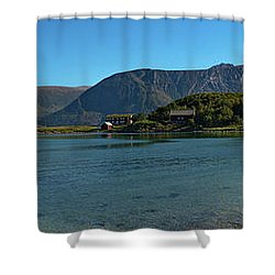 Winter Beach In Norway Shower Curtain