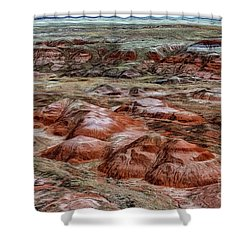 Shower Curtain featuring the photograph Winter Colors Of The Painted Desert by Jon Burch Photography