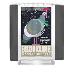 Winter Greetings Shower Curtain