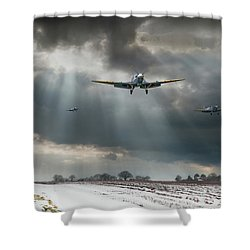 Shower Curtain featuring the photograph Winter Homecoming by Gary Eason