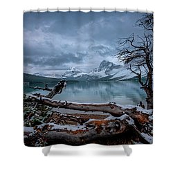 Winter Is Coming Bow Lake Shower Curtain